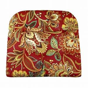 Valbella Red Floral Indoor / Outdoor Dining Chair Pads