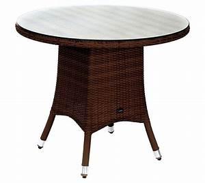 Polyrattan Tisch Rund : zebra tisch 110 rund mary esstisch polyrattan in2farb art jardin ~ Orissabook.com Haus und Dekorationen