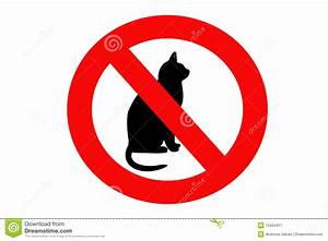 No Cat Sign Royalty Free Stock Photography - Image: 10454417