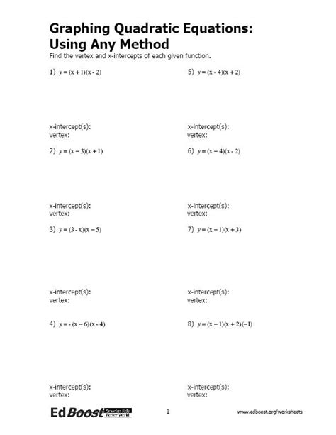 solving systems of equations using any method worksheet algebra edboost
