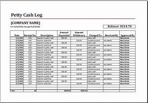 8 petty cash log templates excel templates With petty cash book template free download