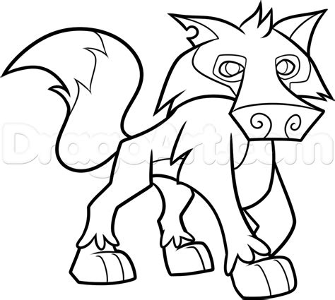 draw  animal jam wolf step  step drawing sheets