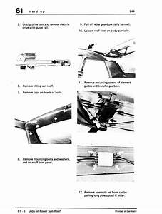 1988 Porsche 944 Sunroof Switch Repair Instructions