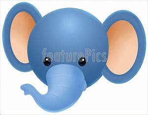 clipart elephant face - Clipground