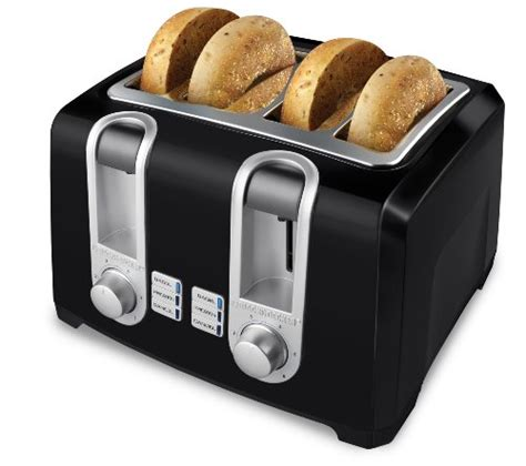 And Black Toaster by Black Decker T4569b 4 Slice Toaster Black Hotel
