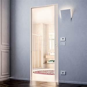 Porte A Galandage Double : ch ssis pour porte coulissante galandage compatible ~ Premium-room.com Idées de Décoration