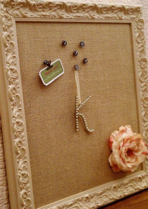 shabby chic pin board shabby chic burlap pin board crafts diy pinterest