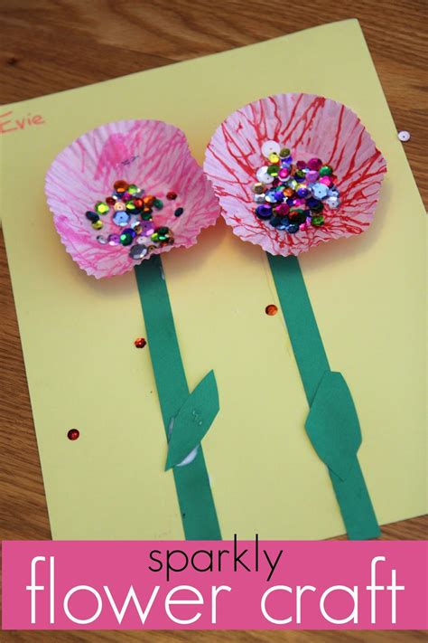 40 pretty paper flower crafts tutorials amp ideas 536 | sparkly flower craft.jpg