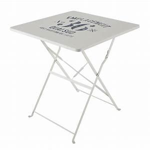 Table Pliante Bricorama : finest table pliante de jardin en mtal blanche l cm ~ Melissatoandfro.com Idées de Décoration