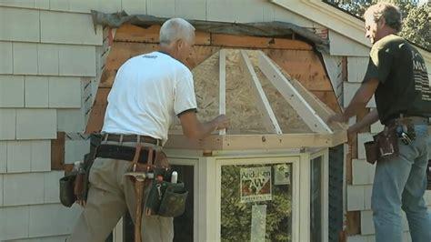 bay window roof final installation fine homebuilding