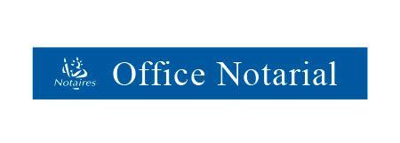bureau notarial vitrophanie dépolie notaire adhésif vitre avec logo marianne
