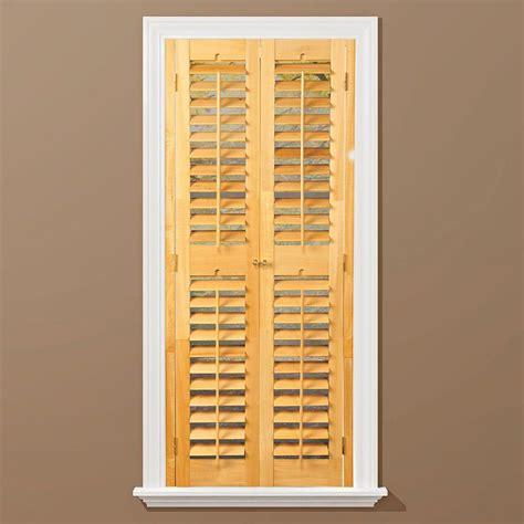 window shutters interior home depot homebasics plantation light teak wood interior