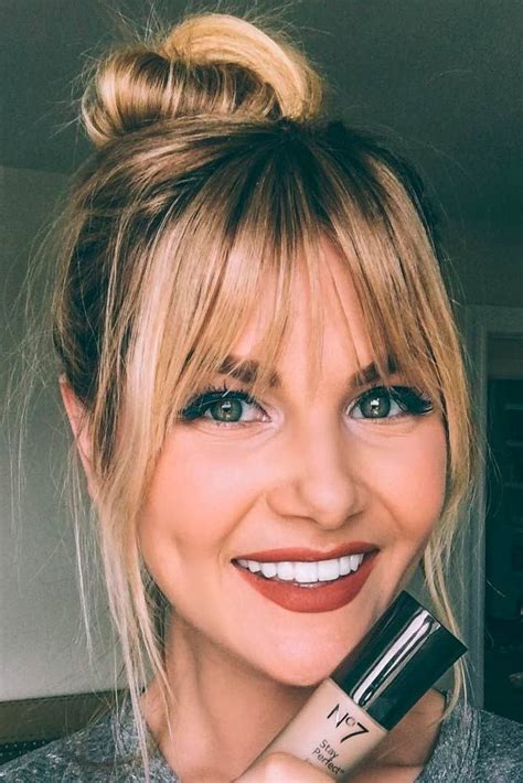 21 Nice and Flattering Hairstyles With Bangs Hair type