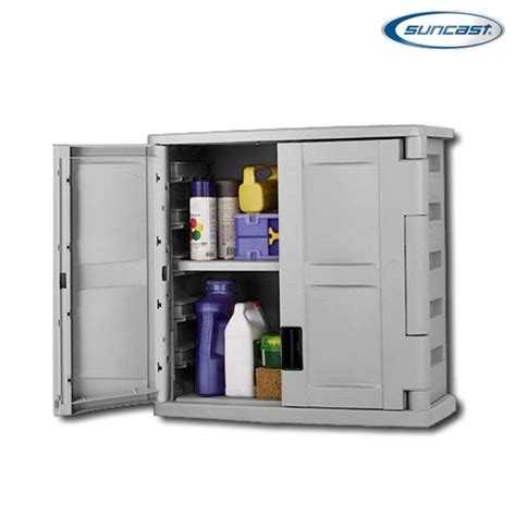 Suncast Storage Cabinets With Doors by Suncast C2800g Utility Wall Cabinet
