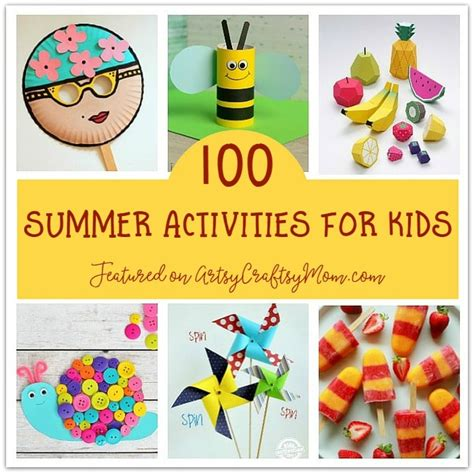 100 Summer Crafts & Activities For Kids  Summer Camp At Home Ideas