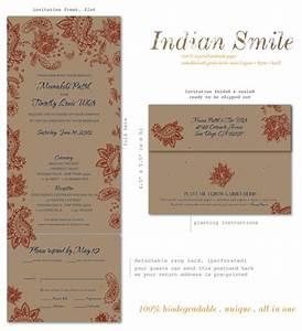 unique wedding invitations seeded paper indian smile by With seed paper wedding invitations indian