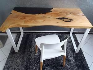 Table Resine Bois : table bois resine ~ Teatrodelosmanantiales.com Idées de Décoration