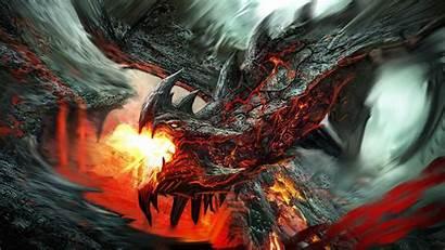 Dragon Wallpapers Fire Desktop Lava Fantasy Pixelstalk