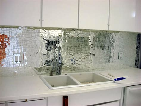Mirror Tiles Backsplash :  Five Tips To Brighten A Room Without