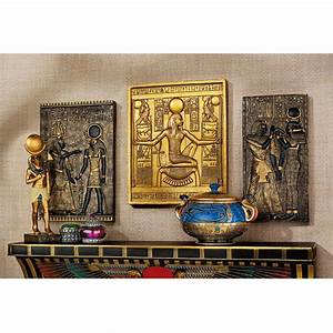 shop design toscano 3 piece w x h frameless egyptian With kitchen cabinets lowes with sculptural wall art