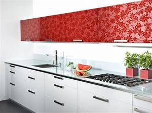 cuisine rouge et blanc With organisation cuisine