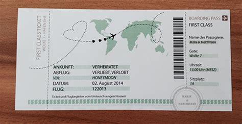 diy hochzeitsgeschenk  class ticket ins eheglueck