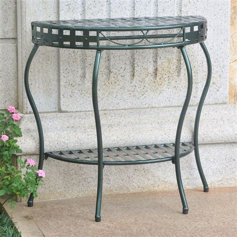half moon patio table in verdigris 3559 hd vg