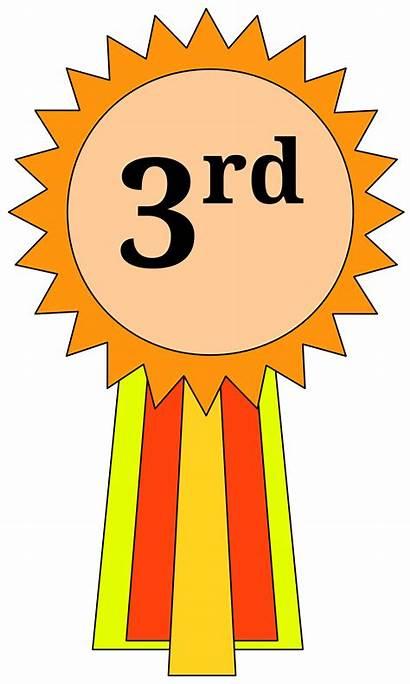 Ribbon Third 3rd Place Clipart Award 1st