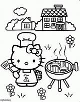 Coloring Pages Cooking Print Little sketch template