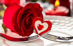 Flower Happy Valentines Day Red Rose Heart Wallpaper