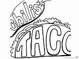 Coloring Taco Printable Chilis Chili Getcolorings Getdrawings sketch template