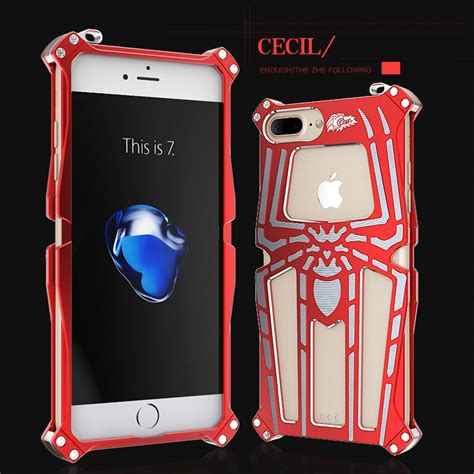 cool moon light iphone 6s cool aluminum tough armor spider metal cover for