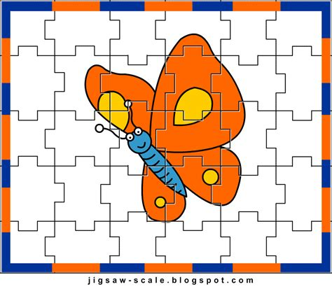 printable jigsaw puzzle for butterfly jigsaw