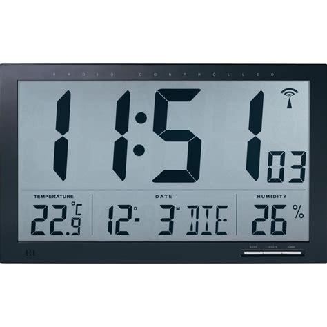 horloge murale radiopilot 233 e noir 370 mm x 230 mm x 30 mm