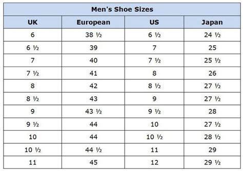 clothing size conversion charts mens shoes shoes  charts