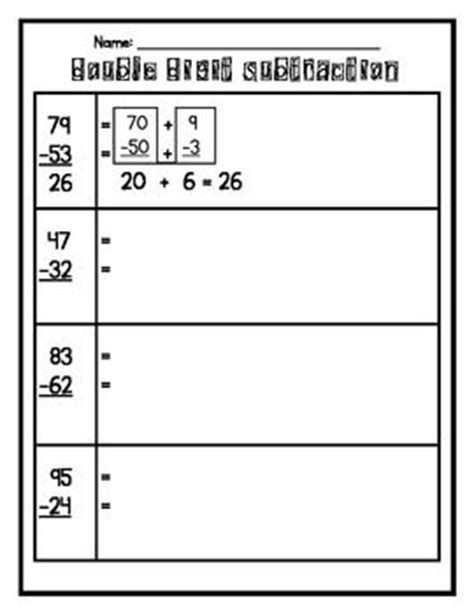 Expanded Addition Worksheets  Introduction To Double Digit Addition Subtraction With Model And