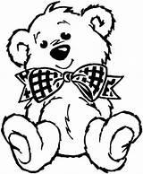 Bear Teddy Decoplage Coloring sketch template