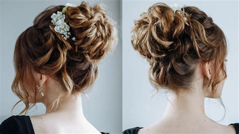 high curly bun the topknot updo youtube
