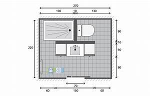 Plan Petite Salle De Bain Avec Wc : exemple plan de salle de bain de 5 9m2 mon plan de salle ~ Melissatoandfro.com Idées de Décoration