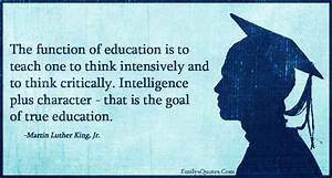 The function of... Intelligent Teacher Quotes