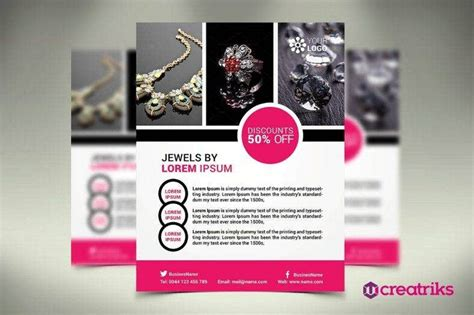jewellery flyer designs  templates word psd eps