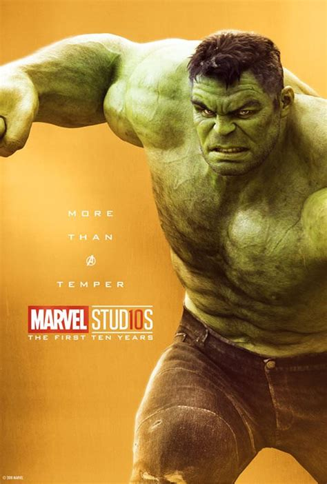 marvel studios anniversary 10th posters avengers infinity war hulk gamora poster releases wave guardians galaxy focus lead inside