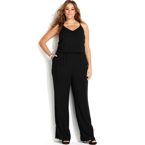jumpsuit plus size lyst inc international concepts plus size sleeveless
