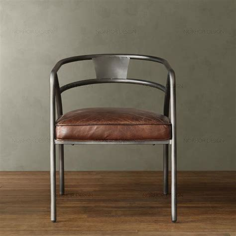 vintage american iron chairs high end sofa chair lounge