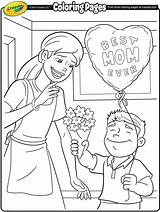 Coloring Pages Mothers Crayola Mother Printable Mom Colouring Colors Happy Father Address Prints Craft Activities Cards Crafts Children Dad Favorite sketch template