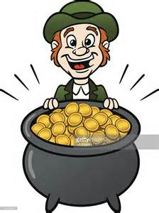 leprechaun with pot of gold vector getty images