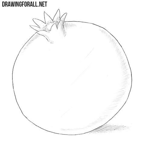 draw  pomegranate drawingforallnet