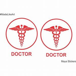 Doctor logo with snake sticker decal for Cars and Wall