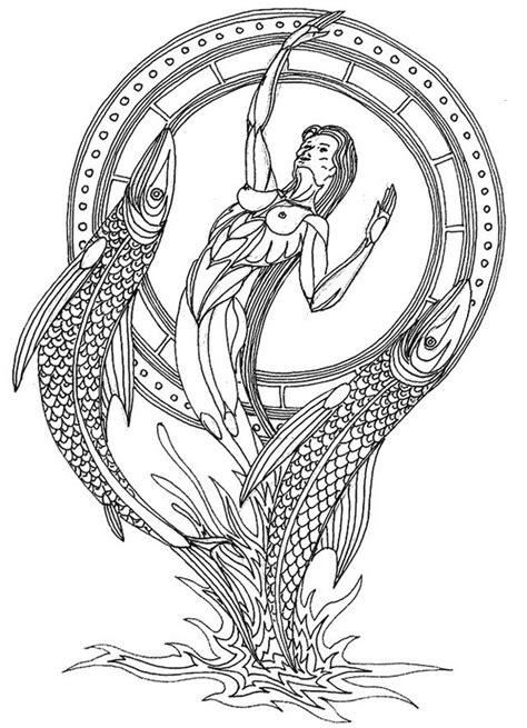 coloriage anti stress astrologie poisson
