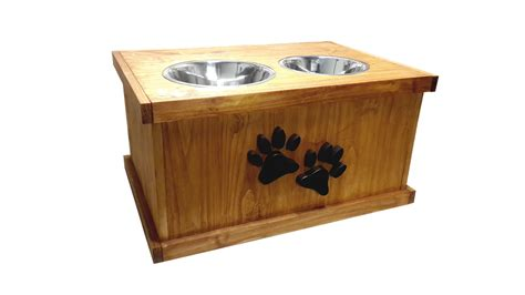 elevated cat food table dog feeding station plans large breed feeder with food